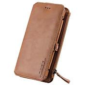 용 지갑 / 카드 홀더 / 스탠드 케이스 풀 바디 케이스 단색 하드 천연 가죽 용 Samsung Note 5 / Note 4 / Note 3