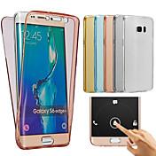 Etui Til Samsung Galaxy Samsung Galaxy Etui Gjennomsiktig Heldekkende etui Helfarge Myk TPU til J7(2016) J7 J5 (2016) J5 J3 J2 J1 Grand