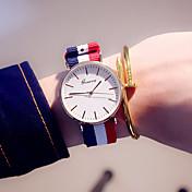 Mujer Reloj de Pulsera / / Colorido Tejido Banda Casual / Moda Azul / Acero Inoxidable / Un año / Tianqiu 377