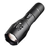 E17 LED손전등 손전등 LED 2000 루멘 5 모드 Cree XM-L T6 조절가능한 초점 용 캠핑/등산/동굴탐험 일상용 사이클링 사냥 낚시 여행 일 등산 블랙