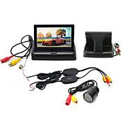 4.3 pulgada LCD Kit de vista trasera del coche Impermeable / Visión nocturna / Wireless para Coche