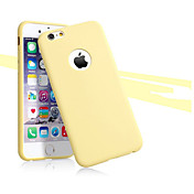 Funda Para Apple iPhone X iPhone 8 iPhone 8 Plus iPhone 6 iPhone 6 Plus Ultrafina Funda Trasera Color sólido Suave TPU para iPhone X