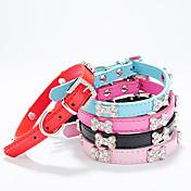 Perros Cuello Ajustable/Retractable / Estroboscopio Sólido / Naturaleza y Paisajes / Hueso / Brillante Rojo / Negro / Azul / Rosado / Rosa