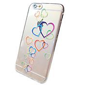 Para Funda iPhone 6 / Funda iPhone 6 Plus Transparente / Diseños Funda Cubierta Trasera Funda Corazón Suave TPUiPhone 6s Plus/6 Plus /
