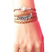 la paz del ala de la perla pulsera trenzada de la mujer pulseras de la joyería de inspiración