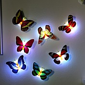 7 fargeskiftende sommerfugl ledet nattlampe av høy kvalitet
