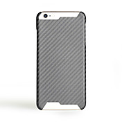 Para Ultrafina Funda Cubierta Trasera Funda Un Color Dura Fibra de Carbono para AppleiPhone 7 Plus iPhone 7 iPhone 6s Plus/6 Plus iPhone