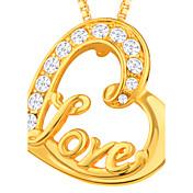 Hombre Mujer Colgantes Diamante Sintético Legierung Amor Corazón Joyas Para Diario Casual