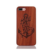 Para Antigolpes En Relieve Diseños Funda Cubierta Trasera Funda Ancla Dura Madera para AppleiPhone 7 Plus iPhone 7 iPhone 6s Plus/6 Plus
