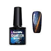 Gel UV para esmalte de uñas 10ml 1 Magnético Empapa Glitters Gel UV Top Coat Clásico Reluciente Brillo y chispa Ligero Neón y brillante