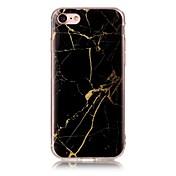 Funda Para Apple iPhone X iPhone 8 IMD Diseños Funda Trasera Mármol Suave TPU para iPhone X iPhone 8 Plus iPhone 8 iPhone 7 Plus iPhone 7