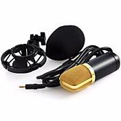 Professional BM-700 Condenser KTV Microphone BM700 Cardioid Pro Audio Studio Vocal Recording Mic KTV Karaoke+ Metal Shock Mount Alámbrico