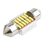 ziqiao 31mm 12 SMD LED 4014 CANbus bil girlander interiør lyspærer (12V / 2 stk)