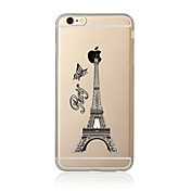 Funda Para Apple iPhone 7 / iPhone 7 Plus Transparente / Diseños Funda Trasera Torre Eiffel Suave TPU para iPhone 7 Plus / iPhone 7 / iPhone 6s Plus