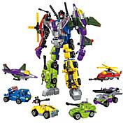 ENLIGHTEN 로봇 조립식 블럭 장난감 장난감 전사 기계 로봇 밀리터리 변형 가능 남아 여아 남자아이 506 조각