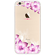 Para Funda iPhone 7 Funda iPhone 6 Funda iPhone 5 Diseños Funda Cubierta Trasera Funda Flor Suave TPU para AppleiPhone 7 Plus iPhone 7