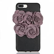 용 DIY 케이스 뒷면 커버 케이스 꽃장식 소프트 TPU 용 Apple 아이폰 7 플러스 아이폰 (7) iPhone 6s Plus iPhone 6 Plus iPhone 6s 아이폰 6