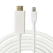 macho a macho de 1,8 m mini DP al hdmi cable mini DisplayPort al adaptador de HDMI para el aire de MacBook Pro para el iMac