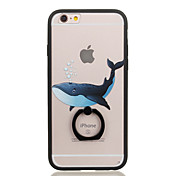Funda Para Apple Soporte para Anillo Transparente Diseños Funda Trasera Animal Dura ordenador personal para iPhone 6s Plus iPhone 6s