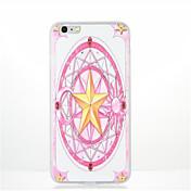 Para Diseños Funda Cubierta Trasera Funda Diseño Geométrico Dibujos Suave TPU para AppleiPhone 7 Plus iPhone 7 iPhone 6s Plus iPhone 6