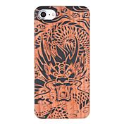 Funda Para iPhone 7 / iPhone 7 Plus / Apple En Relieve / Diseños Funda Trasera Animal Dura De madera para iPhone 7 Plus / iPhone 7