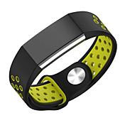 para la banda de reloj cargo2 Fitbit deporte doble del color correa de silicona de la correa de reemplazo agujero transpirable