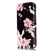 Etui Til Samsung Galaxy S8 S7 edge Kortholder Lommebok med stativ Flipp Magnetisk Mønster Heldekkende etui Blomsternål i krystall Hard PU