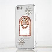Para Diamantes Sintéticos Soporte para Anillo Espejo Manualidades Funda Cubierta Trasera Funda Dibujos Suave TPU para Apple iPhone 7