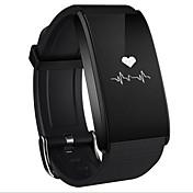 Smart armbånd til iOS Pulsmåler / Blodtrykksmåling / Kalorier brent / Lang Standby / Pekeskjerm Samtalepåminnelse / Aktivitetsmonitor / Søvnmonitor / Stillesittende sittende Påminnelse / Finn min