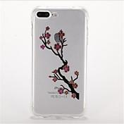 Para Antigolpes Cromado Diseños Funda Cubierta Trasera Funda Flor Suave TPU para AppleiPhone 7 Plus iPhone 7 iPhone 6s Plus iPhone 6 Plus