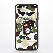 Funda Para Apple iPhone 7 Plus iPhone 7 Soporte para Anillo Diseños En Relieve Funda Trasera Color Camuflaje Dura ordenador personal para
