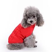 Gato Perro Suéteres Ropa para Perro Un Color Rojo Verde Rosa Azul Claro Azul Real Algodón Disfraz Para mascotas Hombre Mujer Clásico