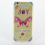 Para Diseños Funda Cubierta Trasera Funda Mariposa Dura Policarbonato para AppleiPhone 7 Plus iPhone 7 iPhone 6s Plus iPhone 6 Plus