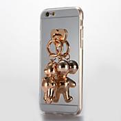 Para Espejo Manualidades Funda Cubierta Trasera Funda Dibujo 3D Dura Acrílico para AppleiPhone 7 Plus iPhone 7 iPhone 6s Plus iPhone 6