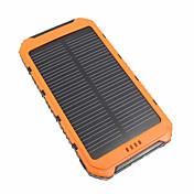 Batería externa del banco del poder 10000mah carga solar multi-salida impermeable del cargador de batería 5v 3.1a # led