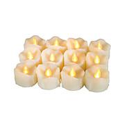 Sett med 12 premium flammeløse votive stearinlys med drypp med timer batteridrevet ledet lys lang batterilevetid 200 timer batteri