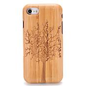 Funda Para Apple iPhone 7 Plus iPhone 7 Diseños En Relieve Funda Trasera Fibra de Madera Árbol Dura De madera para iPhone 7 Plus iPhone 7