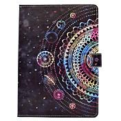 Etui Til Apple iPad 4/3/2 iPad Air 2 iPad Air Kortholder Lommebok med stativ Flipp Magnetisk Mønster Heldekkende etui Mandala Landskap