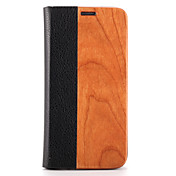 케이스 제품 Samsung Galaxy S7 edge S7 카드 홀더 스탠드 플립 마그네틱 풀 바디 한 색상 하드 나무 용 S7 edge S7