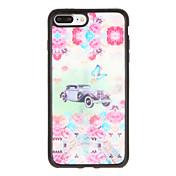 Para Carcasa Funda Diseños Cubierta Trasera Funda Flor Mariposa Suave TPU para AppleiPhone 7 Plus iPhone 7 iPhone 6s Plus iPhone 6 Plus