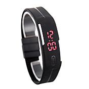 ledet watch dato rød digital rektangel dial gummiband mannlig famale armbåndsur silikon ledet barn klokker sport