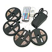 ZDM® 4x5M Lyssett 1200 LED SMD 2835 1 12V 6A adapter / 1 44Kjør fjernkontrollen / 1x 1 til 4 kabelkontakt RGB Kuttbar / Vanntett / Selvklebende / IP65