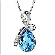 Hombre Mujer Adorable Gota Diamante sintético Brillante Gargantillas Collares con colgantes Collares de cadena  -  Personalizado Floral