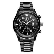 Hombre Reloj de Moda / Reloj de Vestir Japonés Calendario / Reloj Casual Aleación Banda Casual Negro