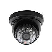 Yanse® cctv casa vigilancia lente 3.6mm con ir corte dome cámara de seguridad 24pcs infrarrojos leds negro