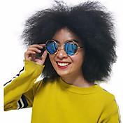 여성 인조 합성 가발 캡 없음 잛은 컬리 블랙 자연 헤어 라인 내츄럴 가발 의상 가발