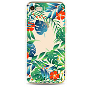 Funda Para Apple iPhone 7 Plus iPhone 7 Transparente Diseños Funda Trasera Flor Árbol Suave TPU para iPhone 7 Plus iPhone 7 iPhone 6s
