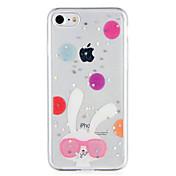 제품 케이스 커버 패턴 뒷면 커버 케이스 동물 글리터 샤인 소프트 TPU 용 Apple 아이폰 7 플러스 아이폰 (7) iPhone 6s Plus iPhone 6 Plus iPhone 6s 아이폰 6