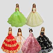 Fest/aften Kjoler Til Barbiedukke polyester Kjole Til Jentas Dukke