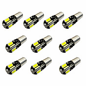 10pcs h6w bax9s canbus 8smd 5730 decodificar indicador luz lámpara luz luz de lectura dc12v blanco